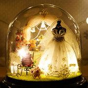 CuteRoom B-022 Love Forever Fai da te Dollhouse Miniature Kit Kit Regalo Con Luce