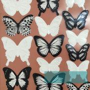 18Pcs 3D schwarzer weißer Schmetterlings-Wand-Aufkleber-Kühlraum-Magnet-Ausgangsdekor-Kunst Applique