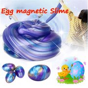 Blowing Bubbles Crystal Slime Colourful Modeling Clay Draw Slime Kids Funny Magnetic Mud Toy