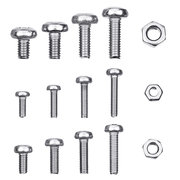 Suleve™ MXST2 480Pcs M2.5/M3/M4 Torx Machine Screw 304 Stainless Steel Pan Head Bolt Nut Assortment