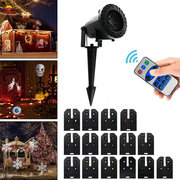 15 Patterns 6W LED Remote Control Projector Stage Light Outdoor Christmas Halloween Decor AC100-240V