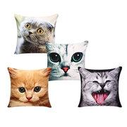 3D espressioni carino gatti lancia cuscino cuscini divano regalo di copertura cuscino dell'automobile dell'ufficio