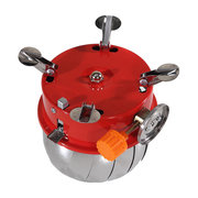 Portable Lotus Shape Windproof Camping Gas Stove Mini Outdoor BBQ Grill Stove Backpack Picnic Burner