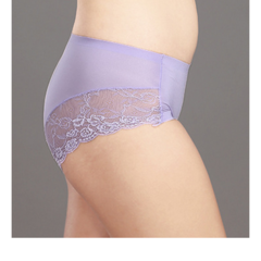 Nouvelle conception Femmes Seamless Polka Dot Panties Silk Lace Soft Underwear Hiphugger