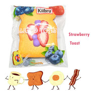 Kiibru Strawberry Sliced Toast Squishy Slow Rising With Packaging Collection Gift Soft Toy