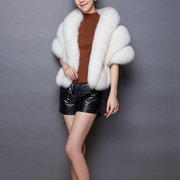 Bride Faux Fur Shawls Wrap Bridal Wedding Dress Accessories Cape Coat Cloak Bolero Jacket