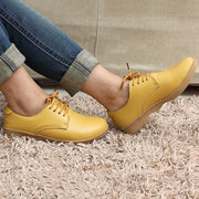 Couro Lace Up Fur Lining Cotton Keep Warm Casual Outdoor Flat Lojavas