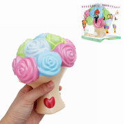 Rose Flower Squishy Slow Rising Toy Gift Collection Decor With Packing Box