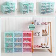 Faltbare Kunststoff-Aufbewahrungsboxen aus Kunststoff-Schuhboxen Organizer Stapelbar Ordentlich Platz sparen Einzelbox