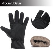 Men Nylon Leather Thread Outdoors Cycling Motorcycle Ski Thick Mittens Gloves