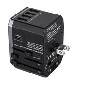EIVOTOR Universal All-in-one Travel Adapter Wall Charger Type-C & 4 USB Port Plug Socket