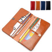 Women Men Microfiber Leather Phone Bags Long Hasp Wallet 8 Card Holder Clutches
