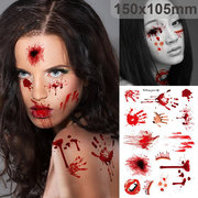 Forniture di Halloween Scab Bloody Trucco Zombie Tattoos Terror Wound Scary Bloody Sticker