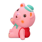 Pink Schoolbag Bear Squishy Slow Rising With Packaging Collection Gift Soft Toy