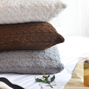 100% Cotton Knit Cushion Covers Decorative Stretchable Pillow Case for Living Room Car Office