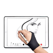 Safety Glove Artist Glove For Any Graphics Tablet Black 2 Finger Anti-Fouling Right And Left Hand