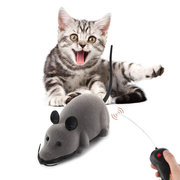 Juguetes creativos para mascotas Control remoto electrónico Mouse Pet Cat Dog Toy Realista Funny Floating Rat Toy