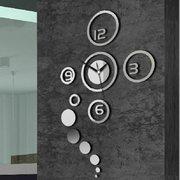 هونانا دكس-X1 الإبداعية 3d الاكريليك مرآة الجدار ملصق الكوارتز ساعات مشاهدة كبير ديكور المنزل