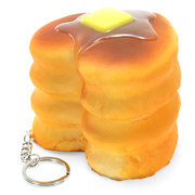 Squishy Love Cake 8cm Soft Collection Gift Decor Bolsa de telefone Strap Keychain Toy