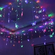 3.5M 96LEDs buntes Vorhang-Schmetterlings-Schnur-Licht mit EU / US-Stecker für Weihnachten AC110V / 220V