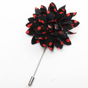 Men Lapel Flower Boutonniere Stick Brooch Pin Handmade Wedding Suit Accessories