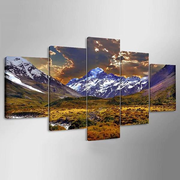 5Pcs Plateau Dusk Canvas Painting Frameless Wall Art Bedroom Living Room Home Decor