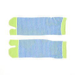 Calcetines de algodón respirable de los hombres del barco de las mujeres calcetines del dedo del pie de la raya