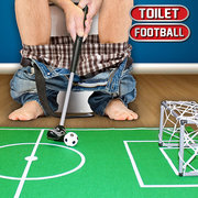 Funny Mini Soccer Game Set Toilet Football Playing In The Bathroom For Football Enthusiast