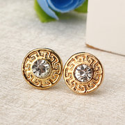 Trendy Stud Earrings Rings Set Gold Earrings for Women Daily Accessories Gift for Her