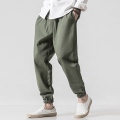Pantaloni casual in cotone con coulisse