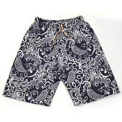 Mens Summer Printing Fashion Casual Elastic Waist Pocket Quick Dry Sports Board Shorts
