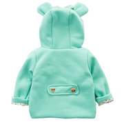 Cute Ear Cotton Girls Hooded Coat Jacket For 0-24M