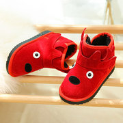 Unisex Kids Cartoon Fawn Colorful Cute Warm Lining Snow Boots