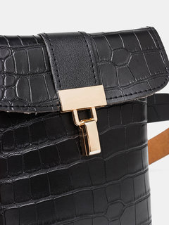 Donna Crocodile Modello Mini Crossbody Borsa Vita elegante Borsa