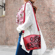 National Style Flower Pattern Shell Shoulder Bags Crossbody Bags For Women