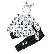 3Pcs Panda Stampa Neonate Set Casual per 0-2 anni