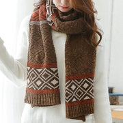 Women Ethnic Style Wool Cotton Scarves Shawl Winter Warm Comfortable Soft Outdoor Keep Warm Scarf