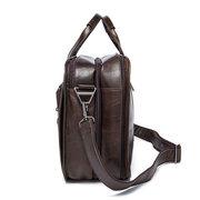 Echtes Leder 3 Haupttaschen 14 Zoll Laptop Business Umhängetasche Aktentasche Für Männer