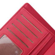 Women Casual 11 Card Slots Solid Wallet Coin Purse