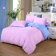 Solid Color Bedding Sets Full Queen King Super King Large Size Quilt Cover Bed Sheet Pillowcase