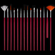 15Pcs Nail Art Brushes Set DIY Pintura Pen False Nails Tips UV Gel Polish Tools