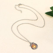 Retro Women's Resin Colorful Mermaid Scaly Long Necklace Gift Sweater Accessory