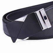 Fashion Gentleman Business Automatic Alloy Buckle Leather Belt