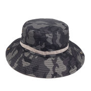 Mens Womens Foldable Sunscreen Breathable Camouflage Bucket Cap Fisherman Hats Outdoor Vintage Hat