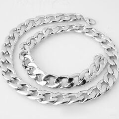 Statement Chain Silver Gold Necklace Stainless Steel Thick Chain Necklace Fashion Jewelry for Women