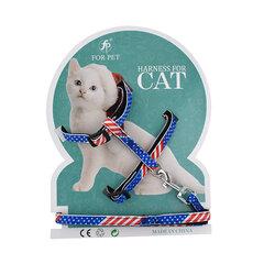 طباعة الكرتون المقود القط Nylon مواد I- وورد عودة القط حبل الصدر حزام مستلزمات الحيوانات الأليفة