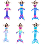 3Pcs Mermaid Tail Swimwear Bikini Bathing Suit Costume Swimsuit For Girls 4Y-13Y