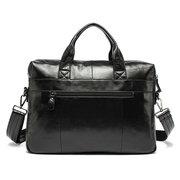 جلد طبيعي الأعمال عارضة حقيبة واحدة الكتف حقيبة يد للرجال