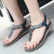 Rhinestone Bohemia Casual Clip Toe Summer Beach Sandals
