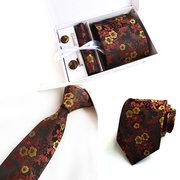 Männer Drucken Jacquard Krawatte Mode Vintage Formal Business Casual Arbeitskleidung Krawatte One Box Set
